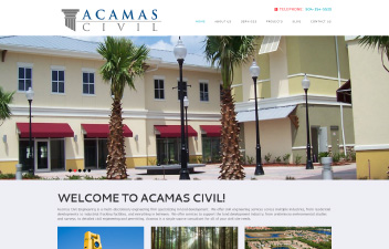 screenshot of website designed Acamas Civil Engineering