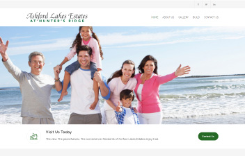 screenshot of website designed for Ashford Lakes Estates