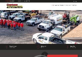 custom tree surgeons website screenshot