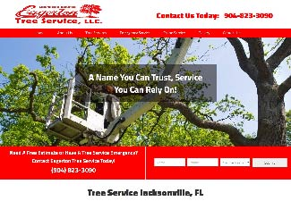 screenshot of eagerton tree service web design