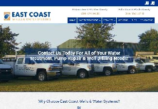 screenshot of east coast wells website