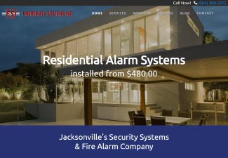 screenshot of website designed for Emergency Systems, Inc.