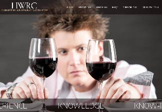 screenshot of website designed for harris wine & restaurant consulting