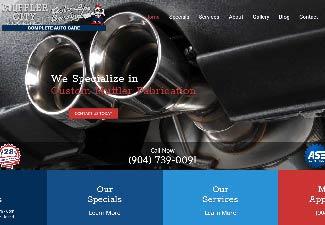 screenshot of website designed for Muffler City Auto Repair