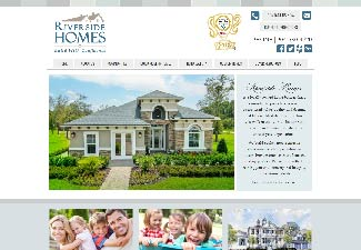 screenshot of riverside homes website design