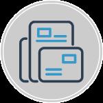 responsive website design icon on gray background