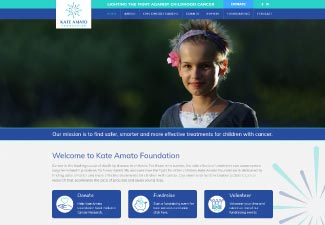 screen shot of Kate Amato Foundation website
