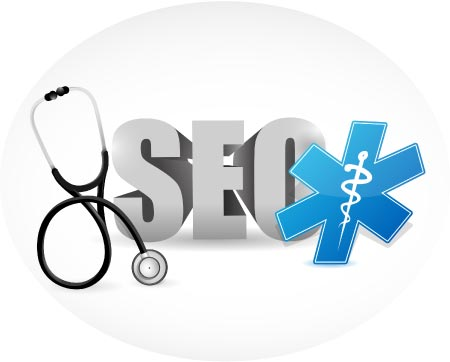 graphic portraying seo for healthcare and medical fields