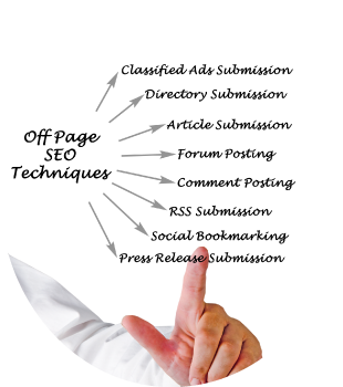 man pointing to list of off-page seo techniques