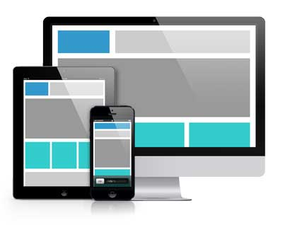 image displaying mock-up of responsive website design
