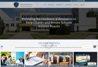 screen shot of san jose schools school consulting website
